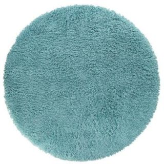 Home Decorators Collection Ultimate Shag Turquoise 8 ft. Round Area Rug 3311493375