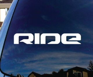 "Ride Snowboard Skateboard Car Window Vinyl Decal Sticker 9"" Wide"