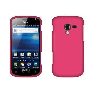 Samsung Exhilarate i577 Hot Pink Rubberized Cover Cell Phones & Accessories