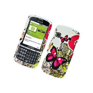 Samsung Replenish M580 SPH M580 White Pink Butterfly Cover Case Cell Phones & Accessories