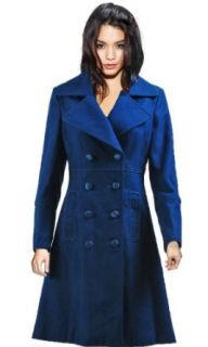 Doctor Who Cosplay Costume Blue Long Trench Coat, Women XS Adult Sized Costumes Clothing