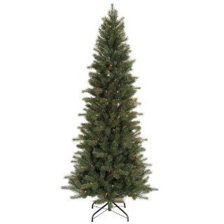 7.5' Pre Lit Blue Spruce Artificial Christmas Tree   Multi Color Dura Lights