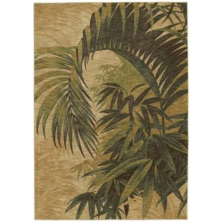 Tommy Bahama Home Rugs Beige Polynesian Palms Transitional Rug (7'9 x 10'10) Tommy Bahama 7x9   10x14 Rugs