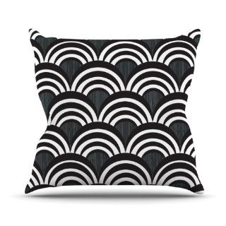 Kess InHouse Nicole Ketchum Art Deco Black Throw Pillow, 20 by 20 Inch