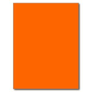 neon  orange solid color post card