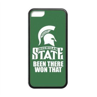 NCAA Michigan State Spartans State Michigan Been There Won That IPHONE 5C With Laser Technology Best Rubber+PVC Cover Case By Every New Day Cell Phones & Accessories