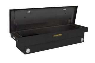 "Lund/Tradesman TALF591PBSFBK Black 71"" Full Size Aluminum Deep Well Cross Bed Push Button Truck Tool Box with Single Foam Filled Lid Automotive"
