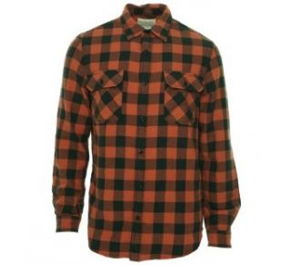 Ralph Lauren Men's Checkerboard Long Sleeve Shirt Orange/Black S Clothing