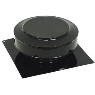 Active Ventilation 8 in. Aluminum Round Roof Vent in Black RBV 8 BL