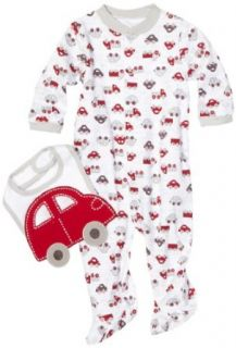 Babyworks Baby boys Newborn Car Coverall and Bib Set, Grey, 3 6 Months Clothing
