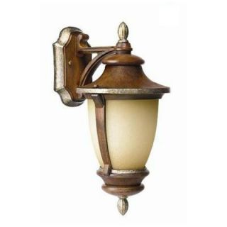 Hampton Bay Wall Mount 1 Light Outdoor Mossoro Walnut Lantern 23217