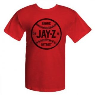 Jay Z Bronx Baseball T Shirt Tee Mens Red XL Clothing