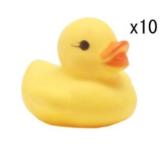 Highsound Funny Yellow Rubber Duck Baby Shower Birthday Party Gift Toy Favors x 10 Toys & Games