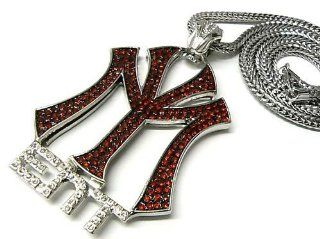 LIL'WAYNE DRAKE NICKI Young Money Pendant Chain Silver/Red mp597RHRD Jewelry