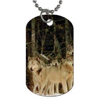 "Wolf pack Dog Tag with 30"" chain necklace Great Gift Idea"