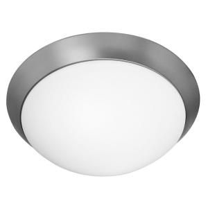 Filament Design Vista 3 Light Brushed Steel CFL Flush Mount  CLI CE 0626GU 7 56