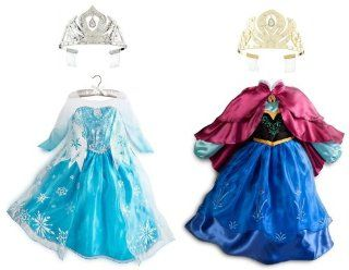 Frozen Princess Elsa and Anna Costume Set Size XS 4 (4T) Clothing