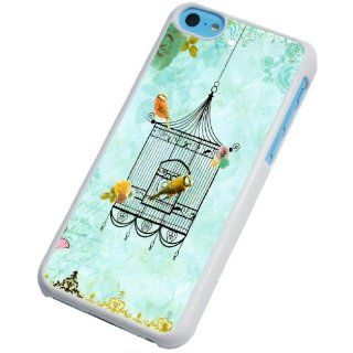 iphone 5C Vintage shabby chic bird cage Fashion Trend Design Case/Back cover Metal and Hard Plastic Case Cell Phones & Accessories