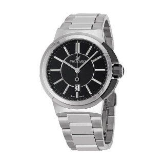 Swarovski Piazza Grande Black Dial Stainless Steel Quartz Mens Watch 1094353 Swarovski Watches