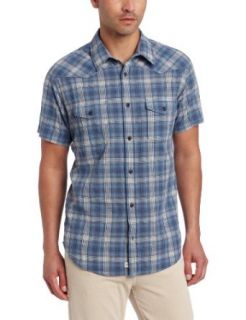 Lucky Brand Men's Fly Short Sleeve Western Shirt at  Men�s Clothing store