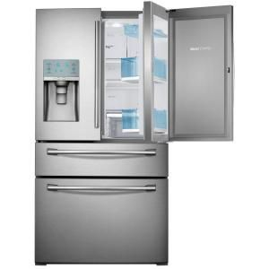 Samsung 29.5 cu. ft. French Door Refrigerator in Stainless Steel with Food Showcase Design RF30HBEDBSR