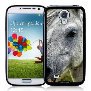 White Horse Pony Face   Protective Designer BLACK Case   Fits Samsung Galaxy S4 i9500 Cell Phones & Accessories