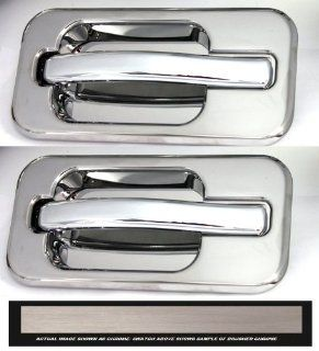 All Sales 602BC Brushed Chrome Billet Aluminum Rear Door Handle and Bucket Kit Automotive