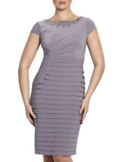 Adrianna Papell Women's Ruched Bandage Dress 16 Platinum