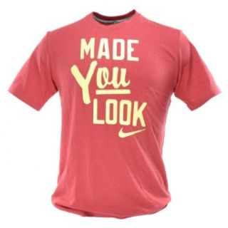 "Nike ""Made You Look"" Men's Fashion Tee Cotton Light Red 534485 608 L  Fashion T Shirts  Clothing"