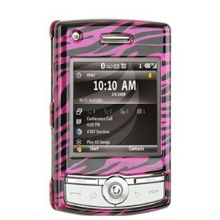 Crystal Hard Magenta + Black Zebra Design Cover Case + Clear Swivel Belt Clip for Samsung Propel Pro SGH i627 AT&T [WCM23] Cell Phones & Accessories