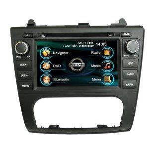 OEM REPLACEMENT IN DASH RADIO DVD Gps NAVIGATION HEADUNIT FOR NISSAN ALTIMA (AUTO AC) 2007 2012 WITH REAR VIEW CAMERA  In Dash Vehicle Gps Units  GPS & Navigation