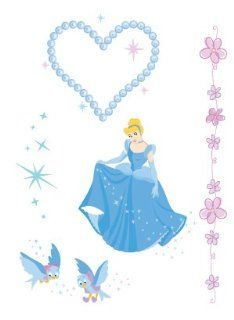 Disney Princess Cinderella Temporary Body Sticker / Tattoos Toys & Games