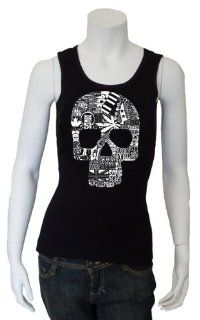 Women's Black Sex, Drugs and Rock & Roll Beater Tank Top S   Created using the words and images that define the Sex, Drugs and Rock & Roll lifestyle