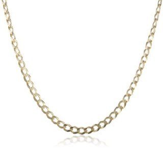 "Men's 14k Yellow Gold 3.85mm Cuban Chain Necklace, 20"" Jewelry"