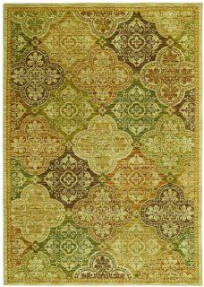 Tommy Bahama Moroccan Mosaic Area Rug, 7.9 Feet by 10.10 Feet, Light Multi   Moroccan Runner