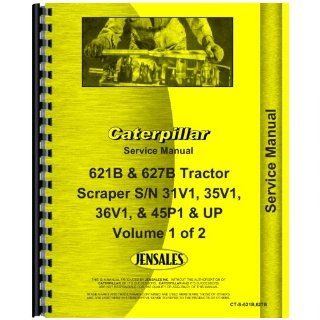 Caterpillar 621B Scraper Service Manual Jensales Ag Products Books