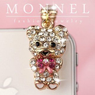 Ip623 Cute Teddy Bear Anti Dust Phone Plug Cover Charm for Iphone Smart Phone Cell Phones & Accessories