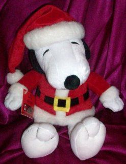 "Hallmark Peanuts Snoopy 12"" Seated Santa Claus Plush Toys & Games"