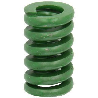 "Die Spring, Extra Heavy Duty, Closed & Ground Ends, Green, 1.25"" Hole Diameter, 0.625"" Rod Diameter, 2"" Free Length, 2050lbs Spring Rate (Pack of 10) Compression Springs"