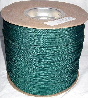 1, 000 ft Spool 650 Parachute Cord Paraline 4 Strand   KELLY GREEN  Tactical Paracords  Sports & Outdoors