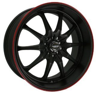 Kyowa Racing Trek 10 (Series 656A) Flat Black with Red Stripe   18 x 8 Inch Wheel Automotive
