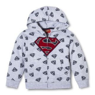 Superman Infant Toddler Boys ZipUp Hoodie   Heather Grey 18 M