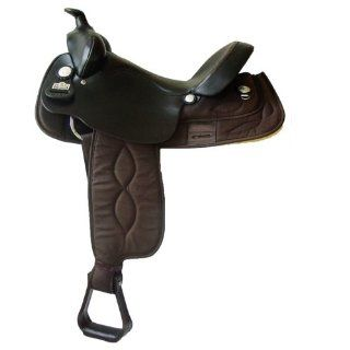 "16"" Big Horn Brown Cordura Gaited Horse Saddle   bh257 [Misc.] [Misc.]  Sports & Outdoors"