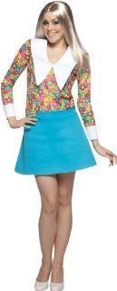 Lets Party By Rasta Imposta Brady Bunch Marcia Brady Adult Costume / Blue   Size One   Size Fits Most Adults