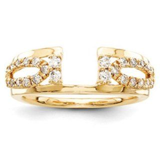 14k Yellow Gold Diamond Ring Wrap Engagement Rings Jewelry