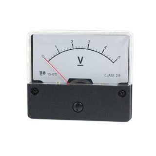 Amico DC 0 5V Rectangle Analog Voltmeter Panel Meter Gauge YS 670   Voltage Testers