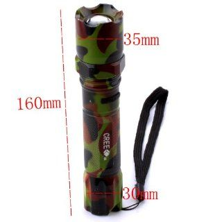 Ostart 500 Lumen 5 Mode Q5 CREE LED 18650 Flashlight Torch Lamp Light Army Green Sports & Outdoors