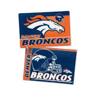 "Denver Broncos Official NFL 2""x3"" Car Magnet 2 Pack  Sports Related Magnets  Sports & Outdoors"