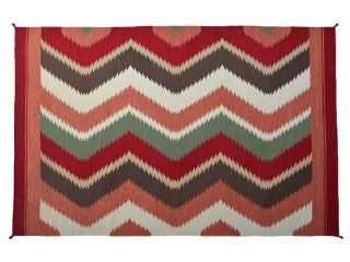 Hand Woven 9' X 12' Colorful Navajo Design 100% Wool Flat Weave Area Carpet, Sh4822   Hand Knotted Rugs