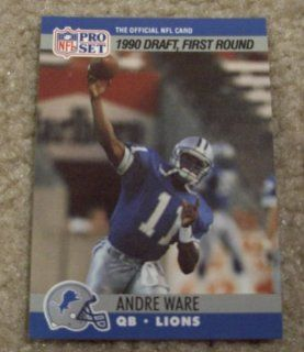 1990 Pro Set Andre Ware # 675 NFL Football Draft Pick Card  Sports Related Trading Cards  Sports & Outdoors